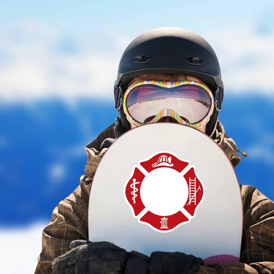 Symbol Of Fire Department Sticker