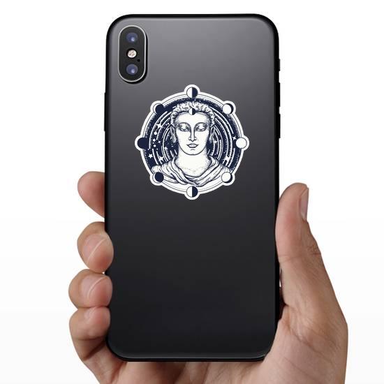 Symbol Of Immortality Buddha Face Sticker
