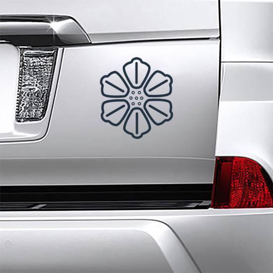 Symmetrical Hibiscus Icon Sticker