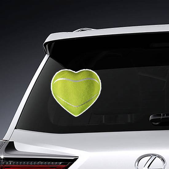 Tennis Ball Heart Sticker