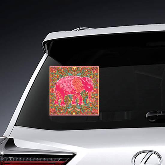 Textile Pattern Elephant Sticker example