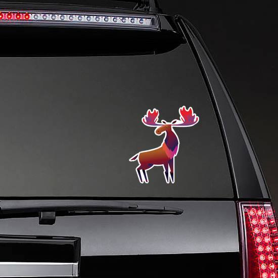 The Mighty Moose Colorful Character Sticker