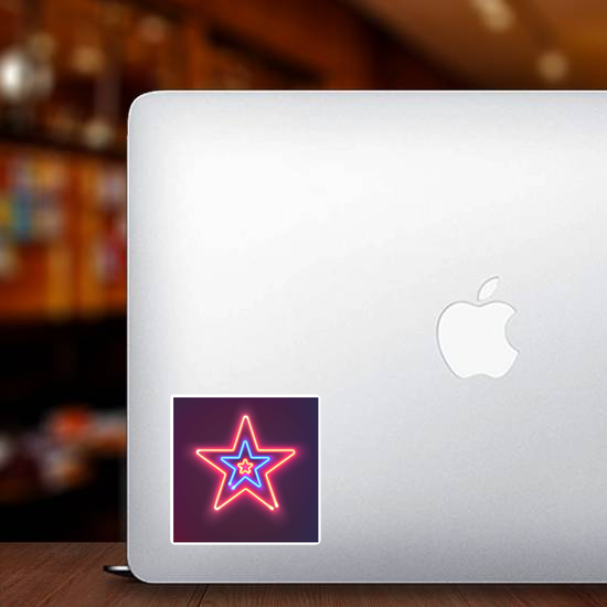 Three Shining Neon Stars Sticker