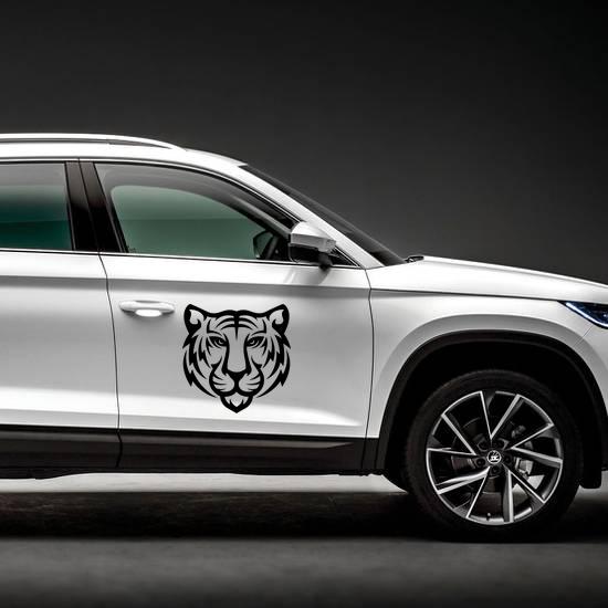 Tiger Logo Design Sticker