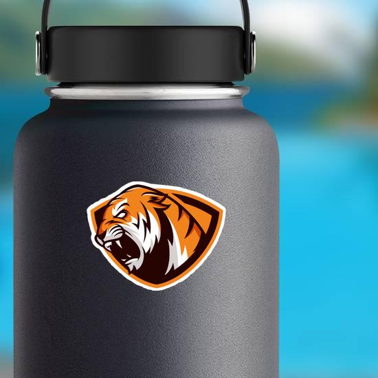 Tiger Mascot Shield Sticker