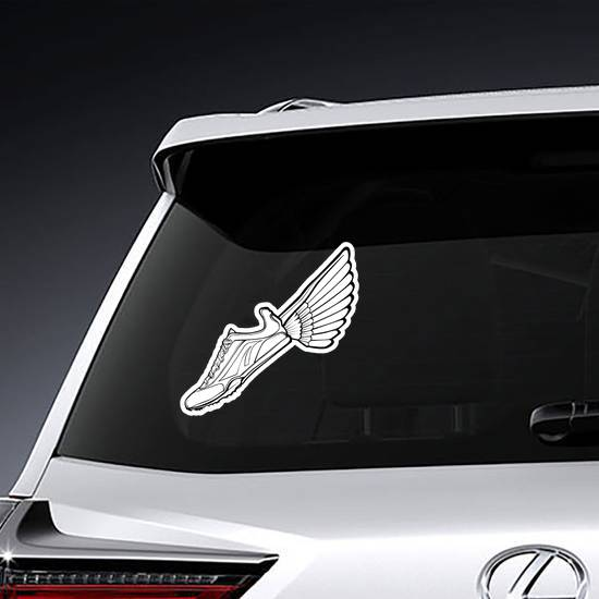 Track Shoe With Wing Illustration Sticker example