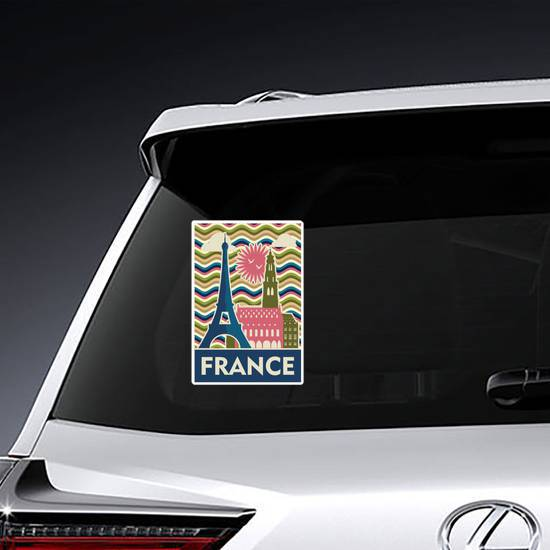 Travel To France Sticker example