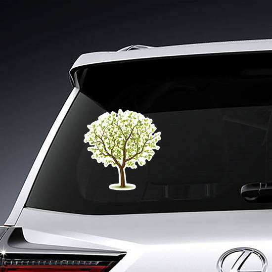 Tree With Green Leaves Sticker