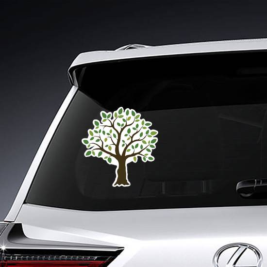 Tree With Light and Dark Green Leaves Sticker