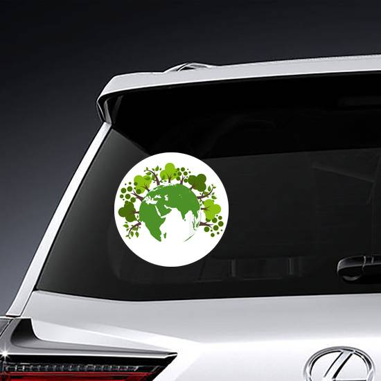 Trees Around The Earth Sticker example