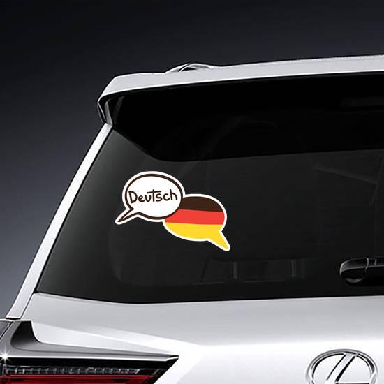 Two Hand Drawn German Speech Bubbles Sticker example