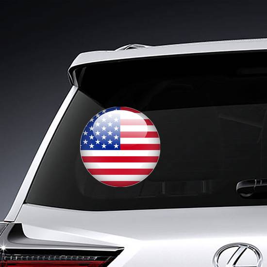 United State Of America Flag Button Sticker example