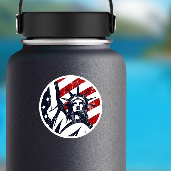 USA Liberty Statue Circle Sticker