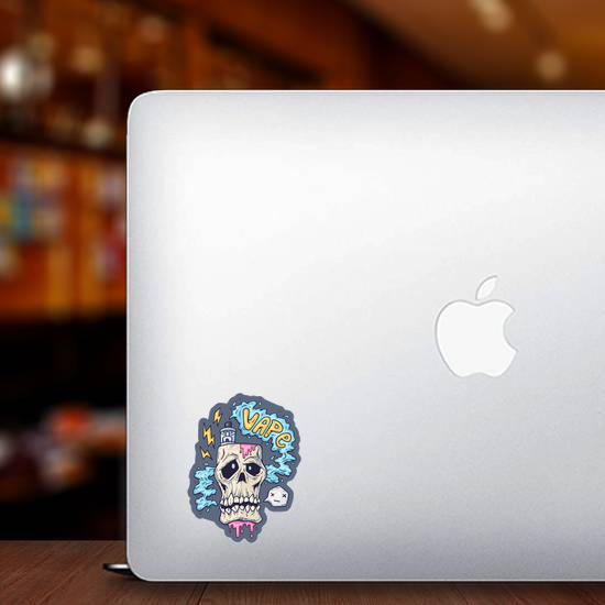 Vape Skull Cartoon Sticker