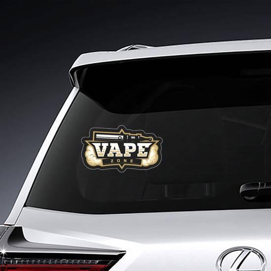 Vape Zone Logo Sticker example
