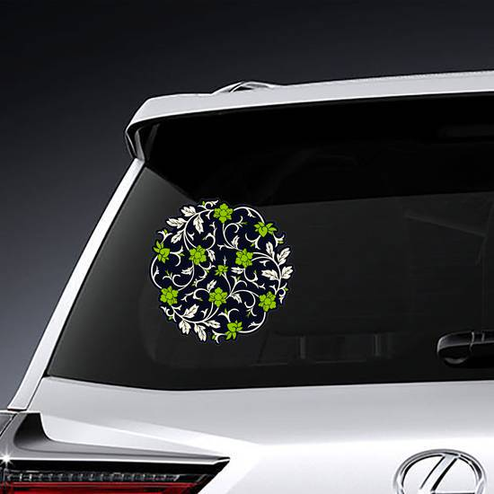 Vector Chinese Ornament Sticker