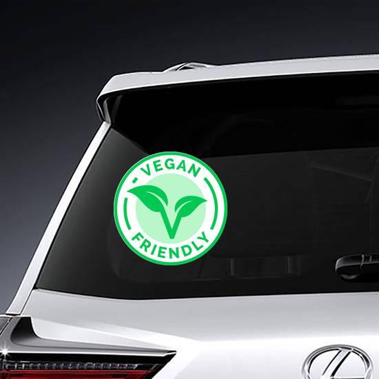 Vegan Friendly Badge Sticker