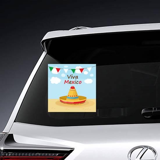 Viva Mexico Beach Celebration Sticker example