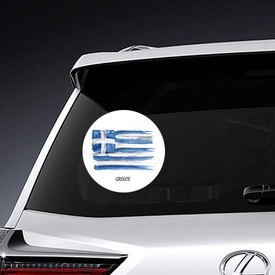 Watercolor Flag Of Greece Sticker example