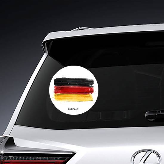 Watercolor Painting Flag Of Germany Sticker example