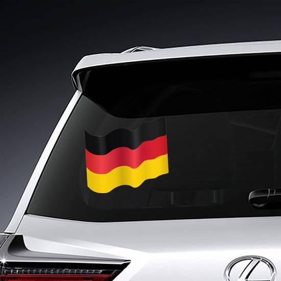 Waving German Flag Sticker example