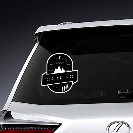 PEACE LOVE CAMPING Vinyl Decal Sticker A