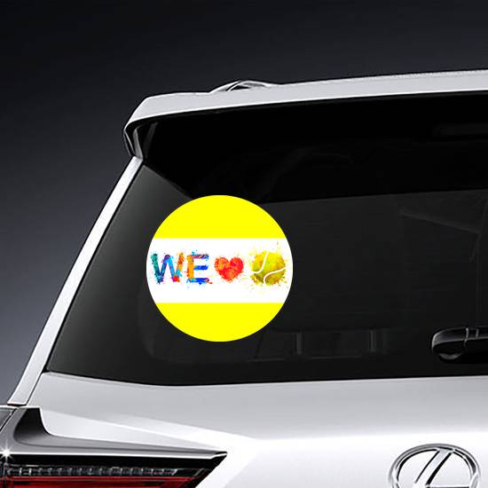We Love Tennis Sticker