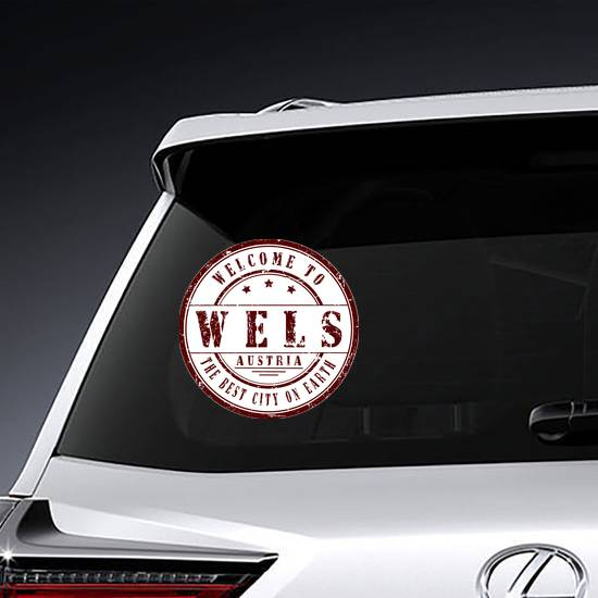 Welcome To Wels Austria Stamp Sticker example