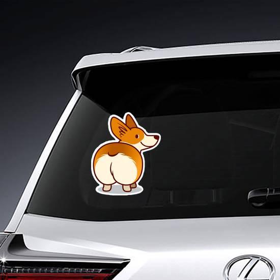 Welsh Corgi Butt Sticker example