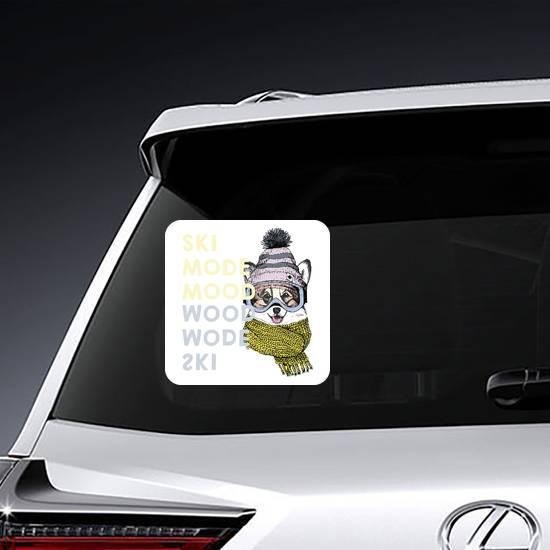Welsh Corgi Ski Dog Sticker