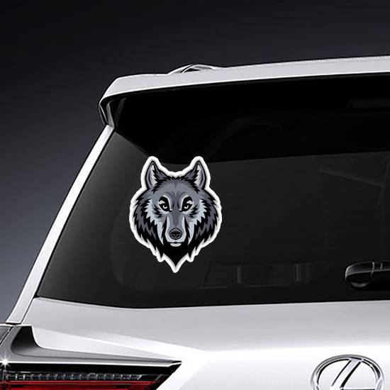 Wolf Head Mascot Sticker
