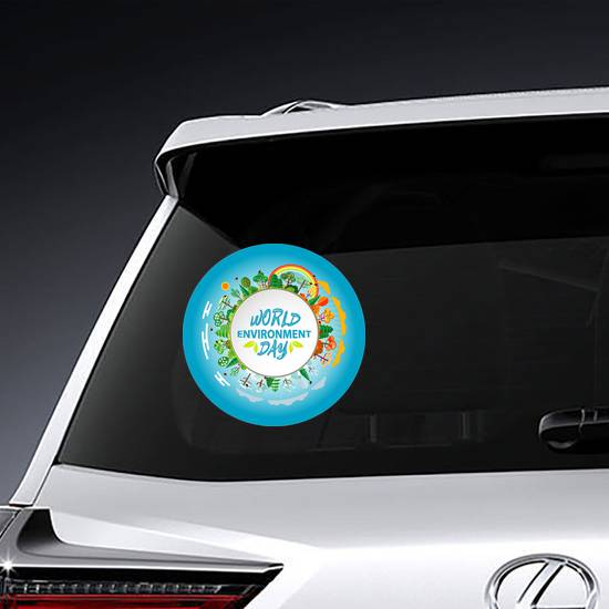 World Environment Day Green Earth Sticker example