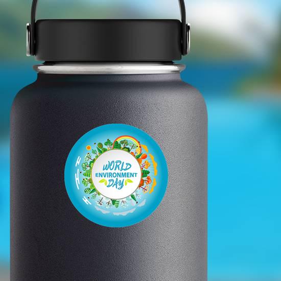 World Environment Day Green Earth Sticker