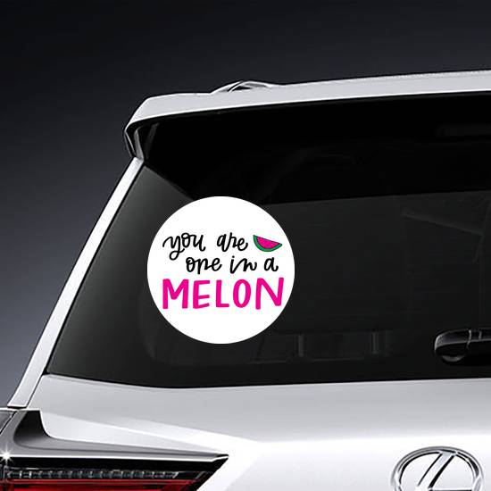 You Are One In A Melon Sticker