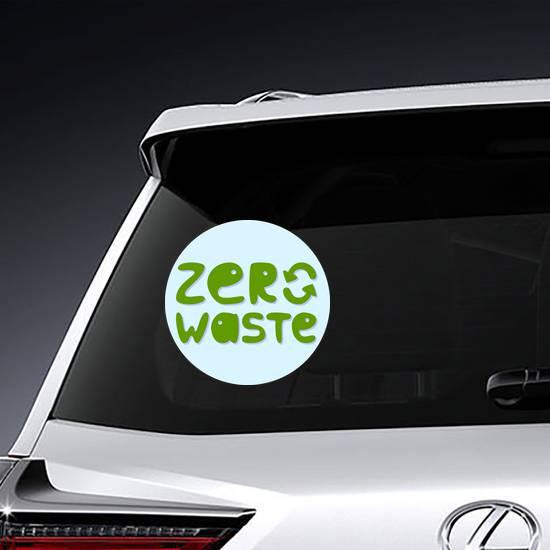 Zero Waste Recycle Sticker example