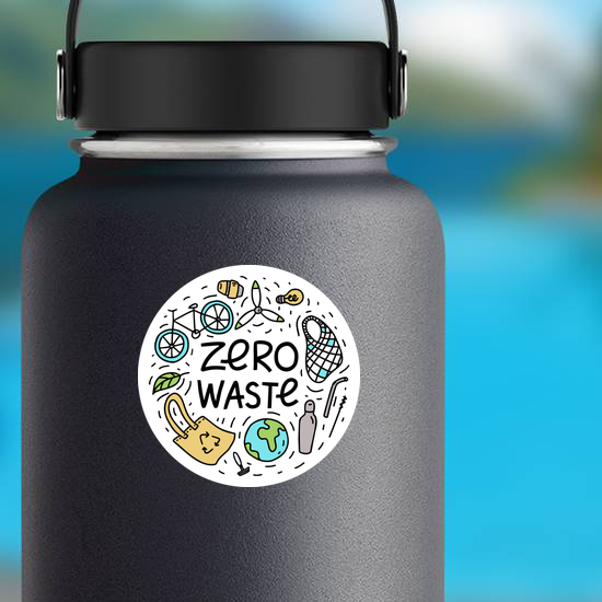 Zero Waste Doodles Sticker