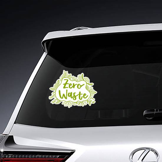 Zero Waste Leaves Sticker example