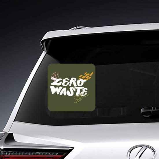 Zero Waste Life Text Sticker