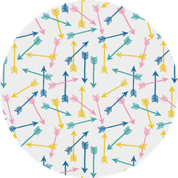 Fun And Cute Colorful Arrow Pattern Sticker