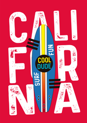 Fun California Surf Sticker
