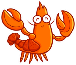 Funny And Cute Lobster Waving It's Hand Sticker