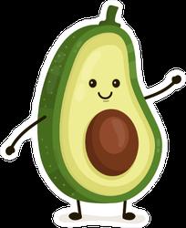 Funny Avocado Sticker
