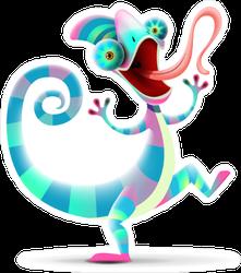 Funny Chameleon Sticker