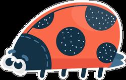 Funny Cute Cartoon Red Ladybug Sticker