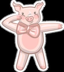 Funny Dancing Pig Dab Meme Sticker