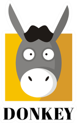 Funny Donkey Face Illustration Sticker
