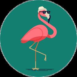 Funny Flamingo Sticker