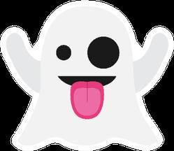 Funny Ghost Emoji Sticker