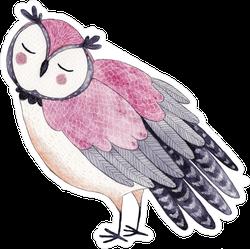 Funny Kids Watercolor Owl Sticker