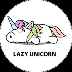 Funny Lazy Unicorn Sticker